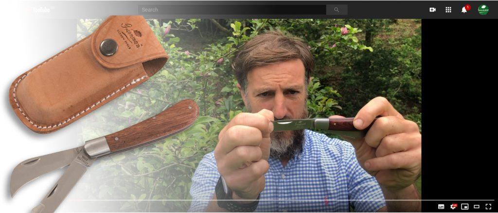 Adam Greenman showcases the Greenman Grafting Budding Knife