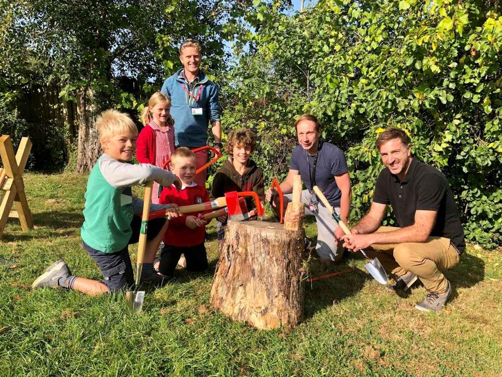 Doddiscombsleigh Primary School launches new forest school with a little help from Greenman Garden Tools